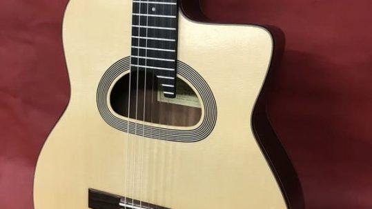 Luthier y guitarra